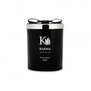 Luxury dark amber & ginger candle - Karma Candles